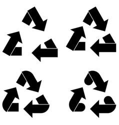 Black utilization arrow and arrows icon vector