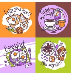 Breakfast Design Concept vector image