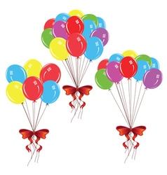 Bunch of balloons vector