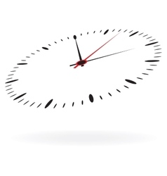Clock isolated on white background vector image vector image