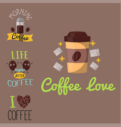 coffee badge food design hand drawn calligraphic vector image