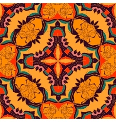 colorful bohemian pattern with stylized vector image