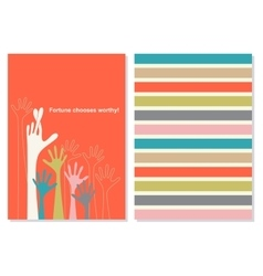 Creative card with motivation quote vector
