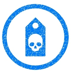 Death coupon rounded icon rubber stamp vector