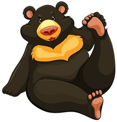 Fat bear vector