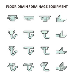 Floor drain icon vector