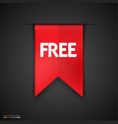 free product red label icon design vector image vector image