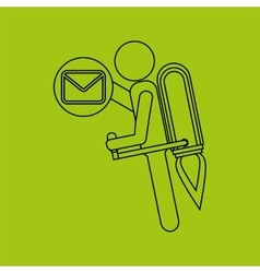 Growth concept business icons email envelope vector