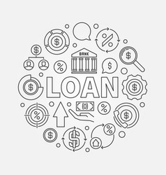 loan round outline vector image