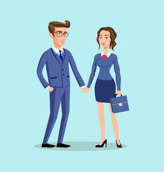 man woman pose office male vector image vector image
