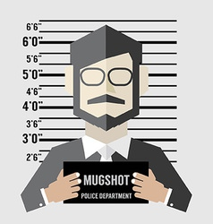Mugshot of businessman vector