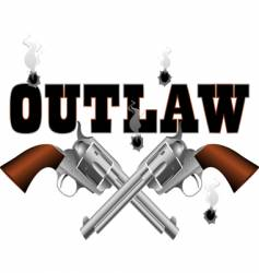 outlaw background vector image
