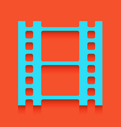 Reel of film sign whitish icon on brick vector