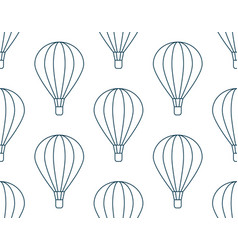 Seamless pattern made of flying cartoon air vector