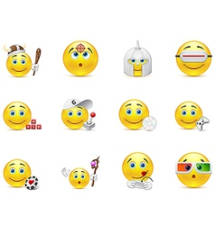Set of smiles in the games category vector