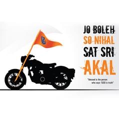 Sikh on Bullet vector image