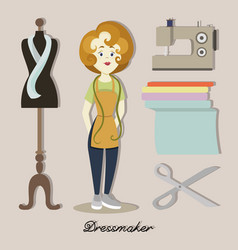 Tailor or dressmaker vector