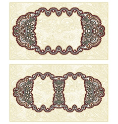 Vintage template with floral background vector image vector image