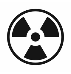 Danger nuclear icon simple style vector