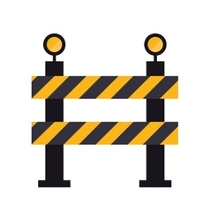 Barrier restricted street stripe design vector