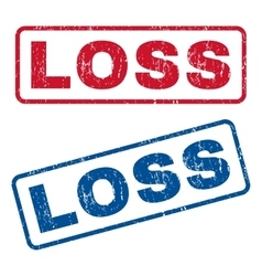 Loss rubber stamps vector