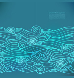 Glow background with wavy pattern vector