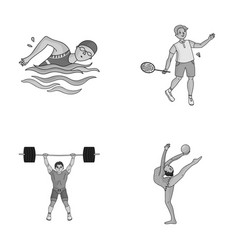 swimming badminton weightlifting artistic vector image