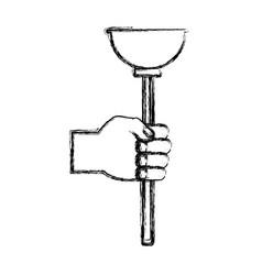 Toilet pump tool vector