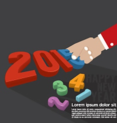 2015 Greeting Card Design vector image