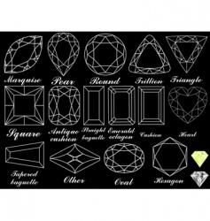 white diamonds background vector image