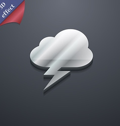 Storm icon symbol 3d style trendy modern design vector