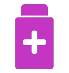 Medication bottle icon vector