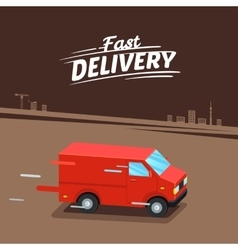 Delivery concept fast delivery van fast delivery vector