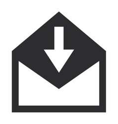 Envelope with arrow downwards icon vector