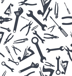 Abstract Seamless Hand tools pattern vector image vector image