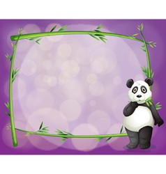 An empty frame with a panda vector image vector image