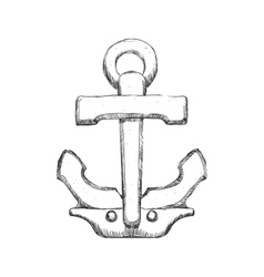 Anchor icon Sea lifestyle design graphic vector image vector image