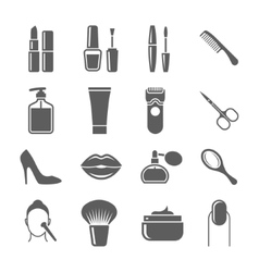 Beauty and makeup icons vector image vector image