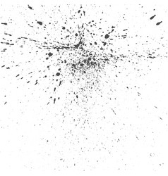 black ink drops grunge texture vector image vector image