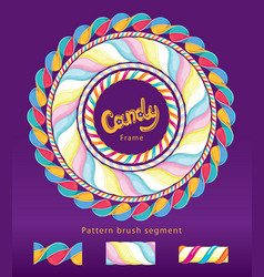 candy frame set vector image
