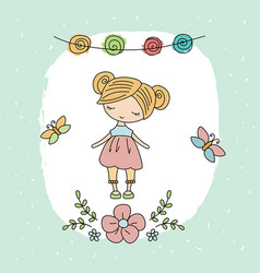 Cartoon little girl cartoon little girl vector