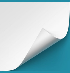 Curled corner of white pape mock up vector