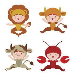 Cute baby animals characters vector