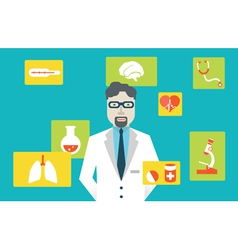 Doctor and medical service vector image vector image