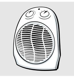 Fan heater vector image vector image