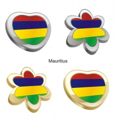 flag of Mauritius vector image vector image
