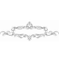 Frame with floral elements for registration vector