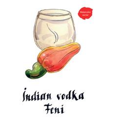 indian vodka feni it means cashew vector image vector image