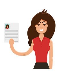 Interview a businesswomen vector