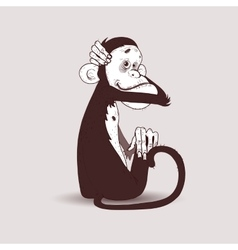 Monkey huggs head vector